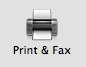 Print and Fax Control Panel