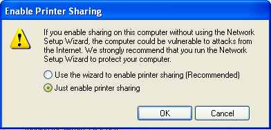 Enable Print Sharing on Windows XP