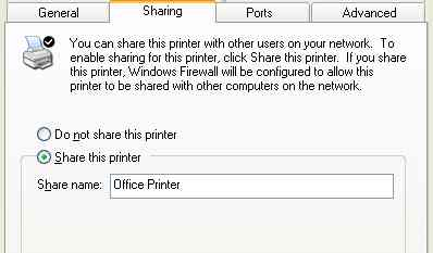 Just enable printer sharing