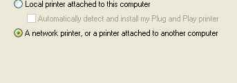 Adding a Network Printer On Windows XP